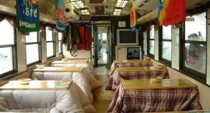Kotatsu nella prima classe dei treni giapponesi !