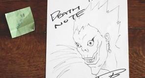 Death Note : Disegno autografato da Takeshi Obata, in vendita su eBay!