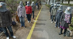 Giappone : Gli uomini piccione si burlano di Google