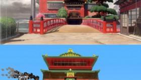 La città incantata di Miyazaki in Minecraft