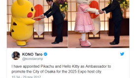 Hello Kitty e Pikachu : Ambasciatori della città di OSAKA